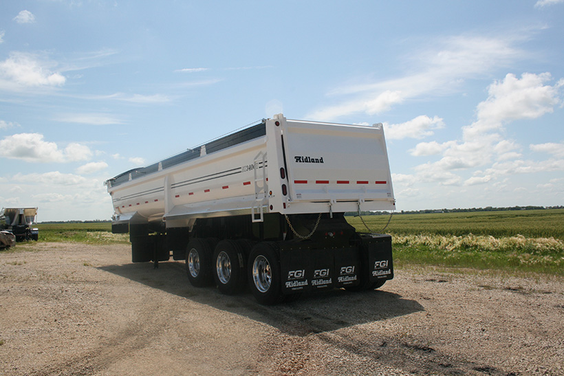 SK End Dump Gravel Trailer
