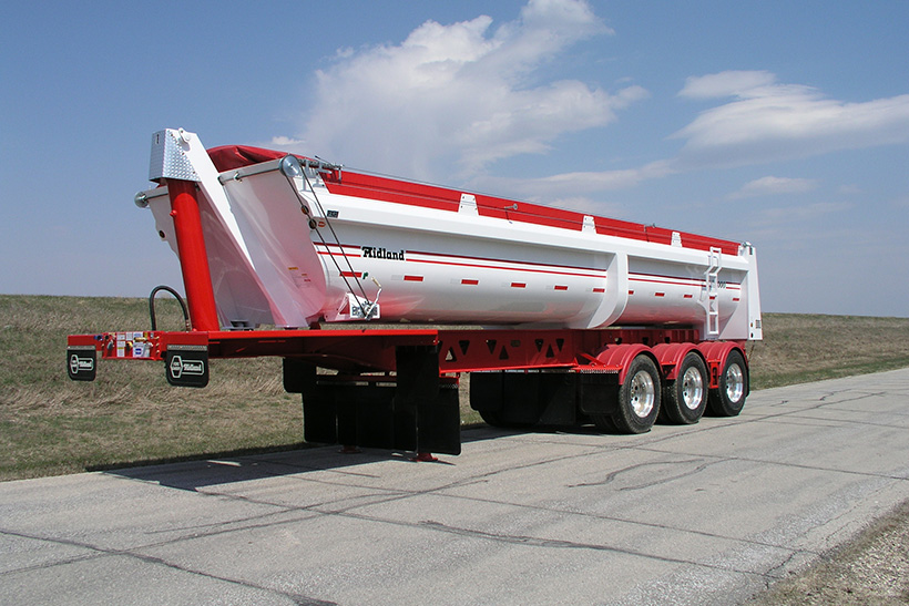 SL end dump gravel Trailer