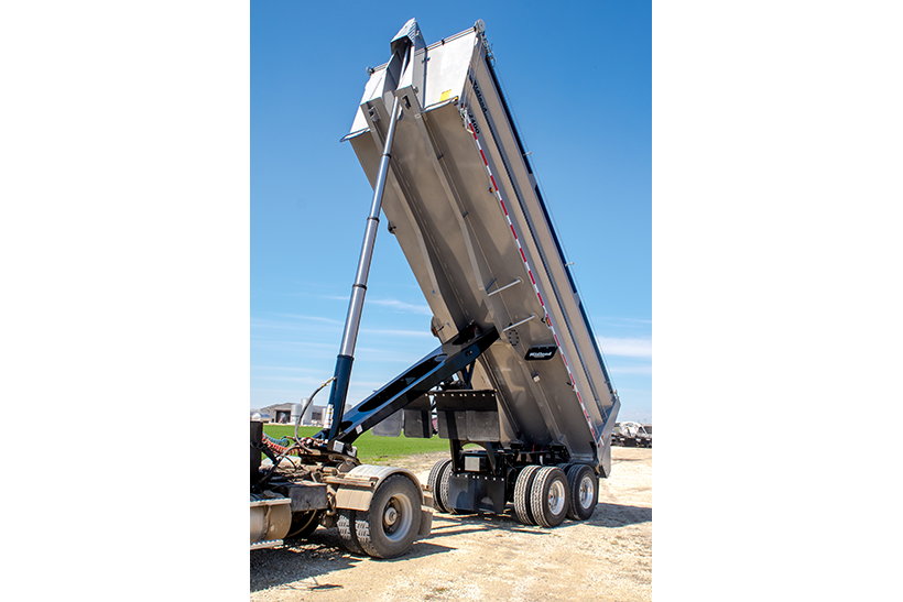 SX End Dump Gravel Trailer, extended hydraulics