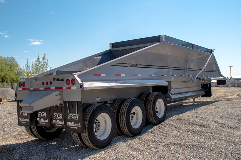 TC Belly/Bottom Dump Gravel Trailer Rear End