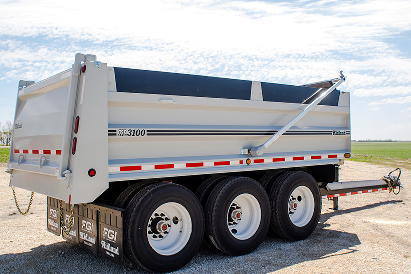 Pony Pup End Dump Gravel Trailer